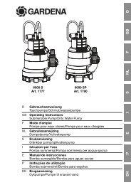 OM, Gardena, Submersible Pump/Dirty Water Pump, Art 01777-20 ...
