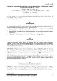 Verordnung des Umweltministeriums über die Eigenkontrolle von ...