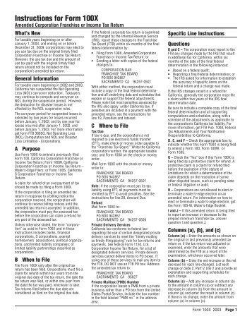 Instructions For Form Ftb 3537 California Franchise Tax Board