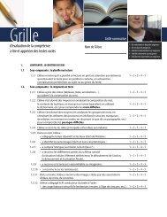 d'évaluation de la compétence à lire et apprécier des textes variés