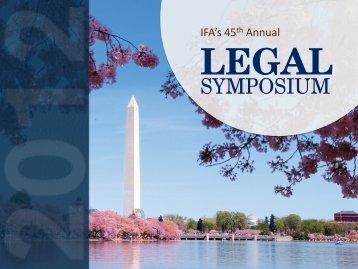 IFA's 45th Annual LEGAL - International Franchise Association
