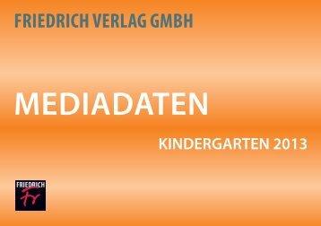 Mediadaten Kiga 2013.indd [CrossTalk] 2 - Friedrich Verlag