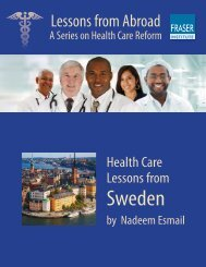 Health Care Lessons from Sweden - Fraser Institute