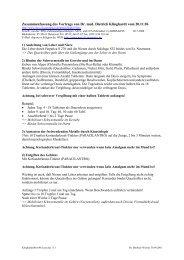Zusammenfassung des Vortrags von Dr. med. Dietrich Klinghardt ...