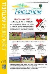 Blättle KW26 - Friolzheim