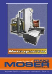 Werkzeugmaschinen - Maschinenhandel Moser GmbH
