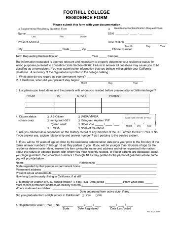 Sample Personal Data Sheet for Volunteer