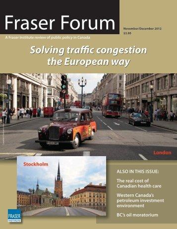 Fraser Forum November December 2012 - Fraser Institute