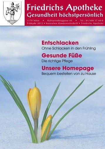 Frühjahr 2013 - Friedrichs Apotheke