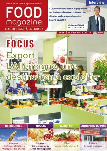 Export L'Allemagne, une destination à exploiter - FOOD MAGAZINE