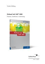 Einkauf mit SAP MM (PDF) - Galileo Computing