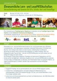 landesweite Fachtag - Freiwilligenagentur Magdeburg