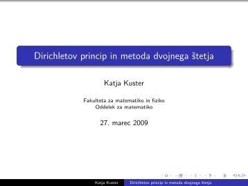 Dirichletov princip - Fakulteta za matematiko in fiziko