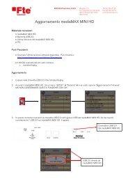 Aggiornamento mediaMAX MINI HD - FTE Maximal