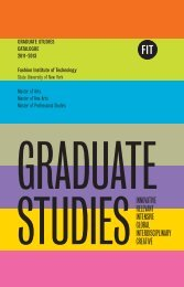 Graduate Studies Catalogue - Fashion Institute of Technology