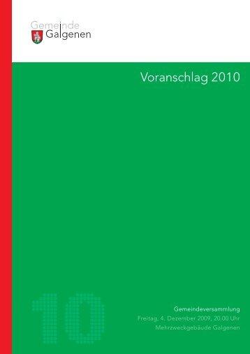 Budget 2010 - Galgenen