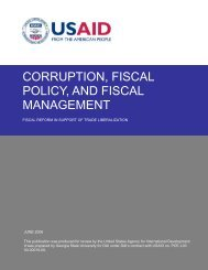 Corruption, Fiscal Policy, and Fiscal Management - Fiscal Reform