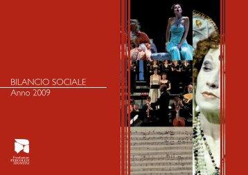 BILANCIO SOCIALE Anno 2009 - Fondazione Pergolesi Spontini