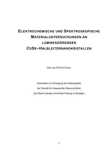 elektrochemische und spektroskopische materialuntersuchungen an ...