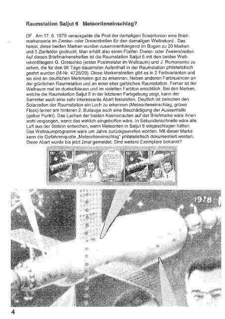 Heft 133 - Gesellschaft der Weltall-Philatelisten, CH