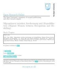 Migrantinnen zwischen Anerkennung und Abqualifikation (Migrant ...