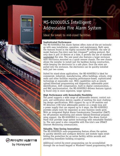 MS-9200UDLS Intelligent Addressable Fire Alarm     - Fire