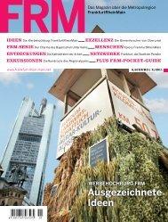 FRM Magazin Herbst 2011 (24 MB) - FrankfurtRheinMain GmbH