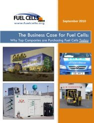 The Business Case for Fuel Cells: - Fuel Cells 2000