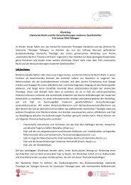 Workshop Islamisches Recht und die Herausforderungen ... - GAIR