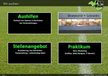 Wir suchen - FUN and RUN GmbH