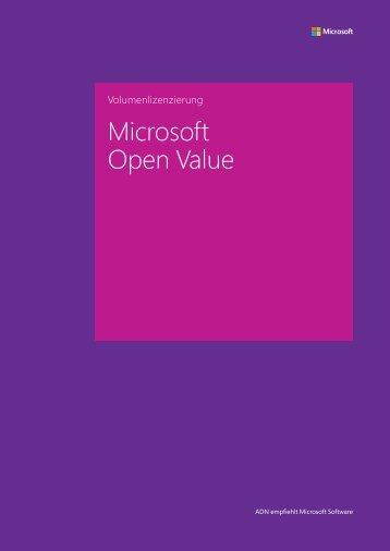 Microsoft Open Value - ADN