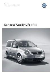 Der neue Caddy Life Style - Autohaus Perski ohg