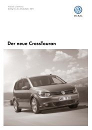 Der neue Crosstouran - Volkswagen AG
