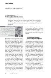 Freiheit durch Sicherheit? - Neue Gesellschaft Frankfurter Hefte