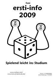 Ersti-Info 2009 - Fachschaft Mathematik/Informatik