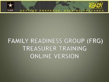 Treasurer Online Training with Instructions - Fort Bragg