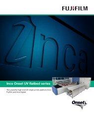 Inca Onset UV flatbed series - Fujifilm USA