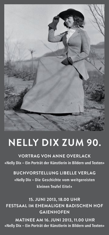 Nelly Dix zum 90. - Forum Allmende