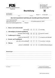 Beurteilung W - Staatliche Fachoberschule und Berufsoberschule ...