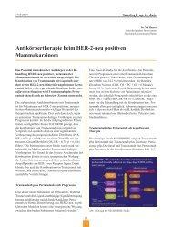 Antikörpertherapie beim HER-2-neu positiven Mammakarzinom