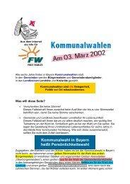 Kommunalwahl in Bayern heißt Persönlichkeitswahl - Freie Wähler ...
