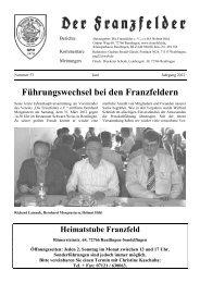 Ausgabe 53 hier herunterladen - Die Franzfelder