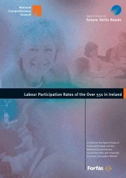 Labour Participation Rates of the over 55s in Ireland - Forfás