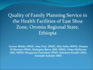 Quality of family planning service in East Shoa - International ...