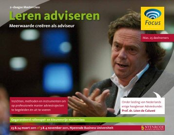Leren adviseren - Focus Conferences