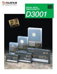 1/2-inch Digital Metal Videocassette D3001 Catalog