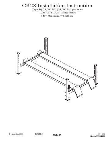 rotary lift installation instructions pdf