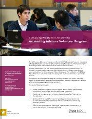 Accounting Advisors Volunteer Program - University of Washington ...