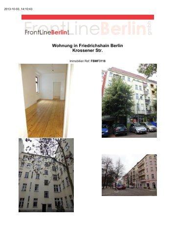 Wohnung in Friedrichshain Berlin Krossener Str. - Front Line Berlin ...