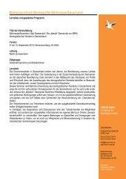 Geplanter Programmablauf Demografischer Wandel 2013... - Forum Unna